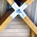 Cybierta de madera interior cruceta metalica