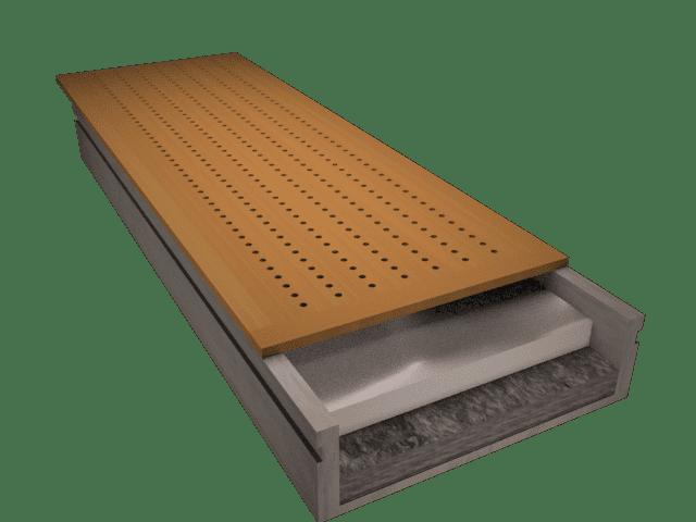 Panel sándwich madera cabios acústico