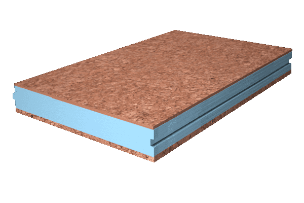 Panel sandwich madera aglomerado hidrofugo