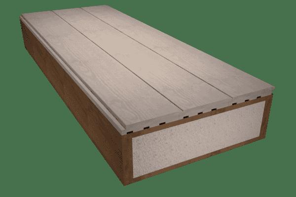 Panel sandwich madera con cabios