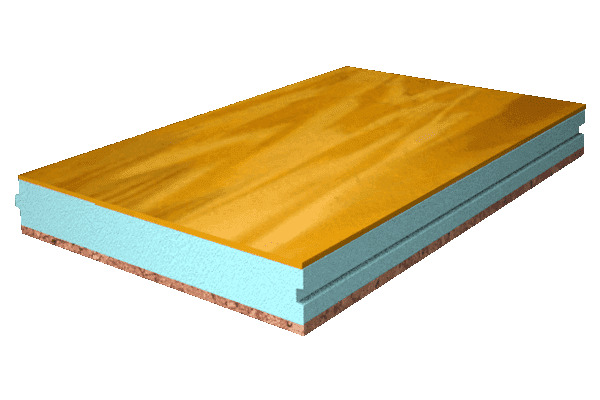 Panel sándwich terminación pino liso