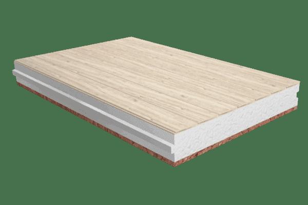 Panel sandwich madera friso abeto sin barnizar