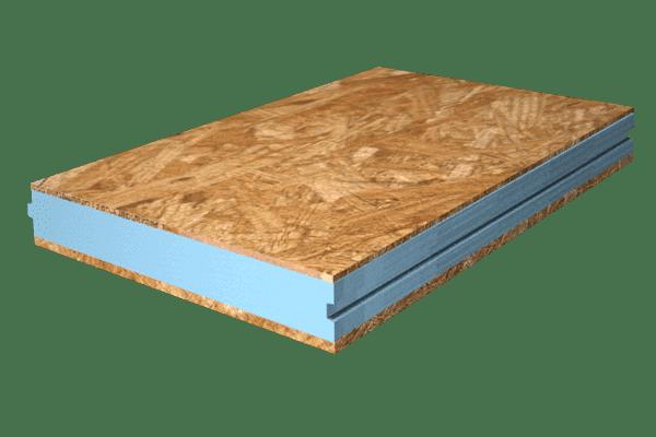Panel sándwich terminación interior con madera osb