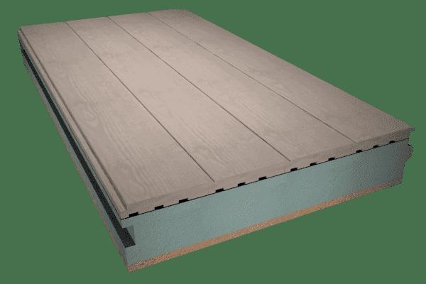 Panel sándwich madera acabado interior tarima