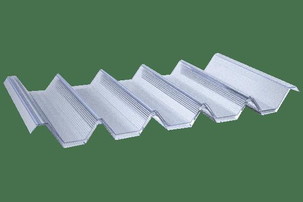 Traslucido policarbonato alveolar grecado