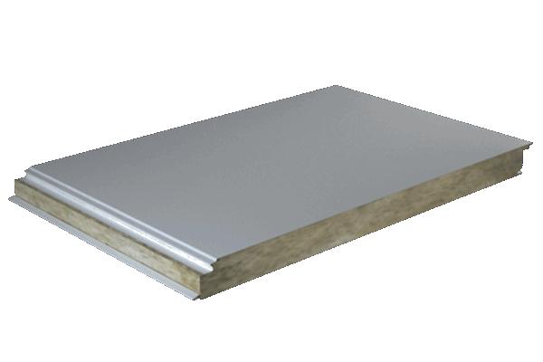 Panel fachada núcleo lana de roca acabado liso