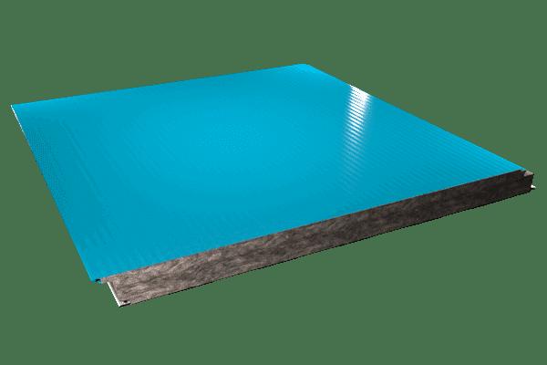 Panel sandwich fachada lana de roca microperfilado