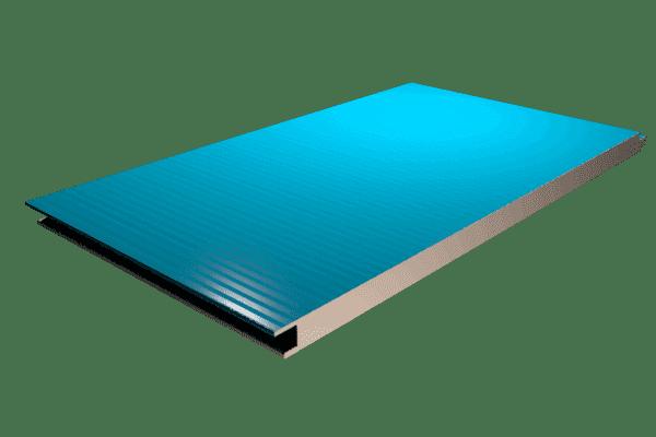 Panel sándwich fachada núcleo de poliuretano acabado microperfilado