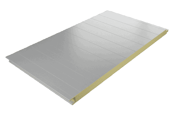 Panel sándwich fachada núcleo de PUR acabado estándar