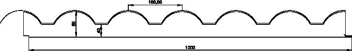 Medidas panel sándwich imitación teja