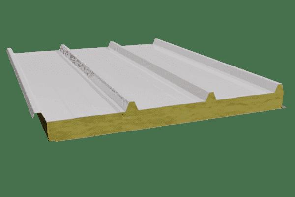 Panel sandwich para cubierta con nucleo de lana de roca