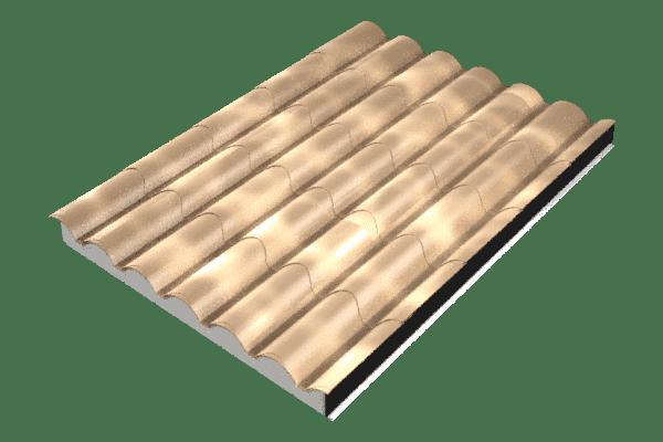 Panel sándwich imitación teja albero envejecido
