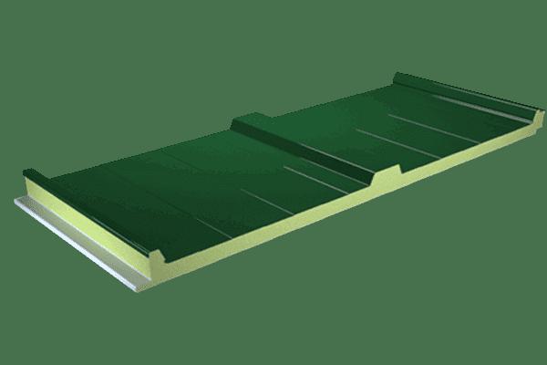 Panel cubierta sándwich color verde Navarra