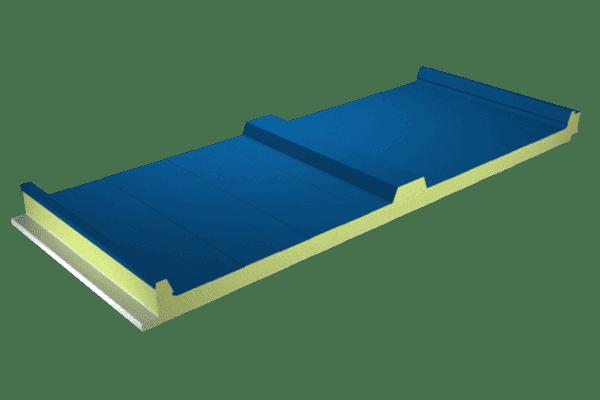 Panel cubierta sándwich color azul lago
