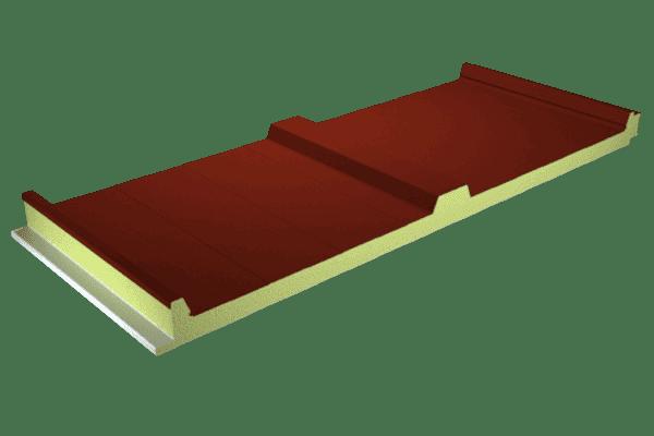 Chapa sándwich color rojo teja